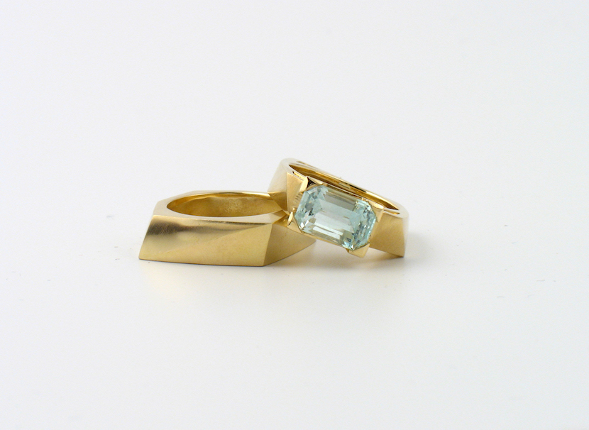 Aquamarine and Gold Ring: Image Courtesy of Melanie Eddy