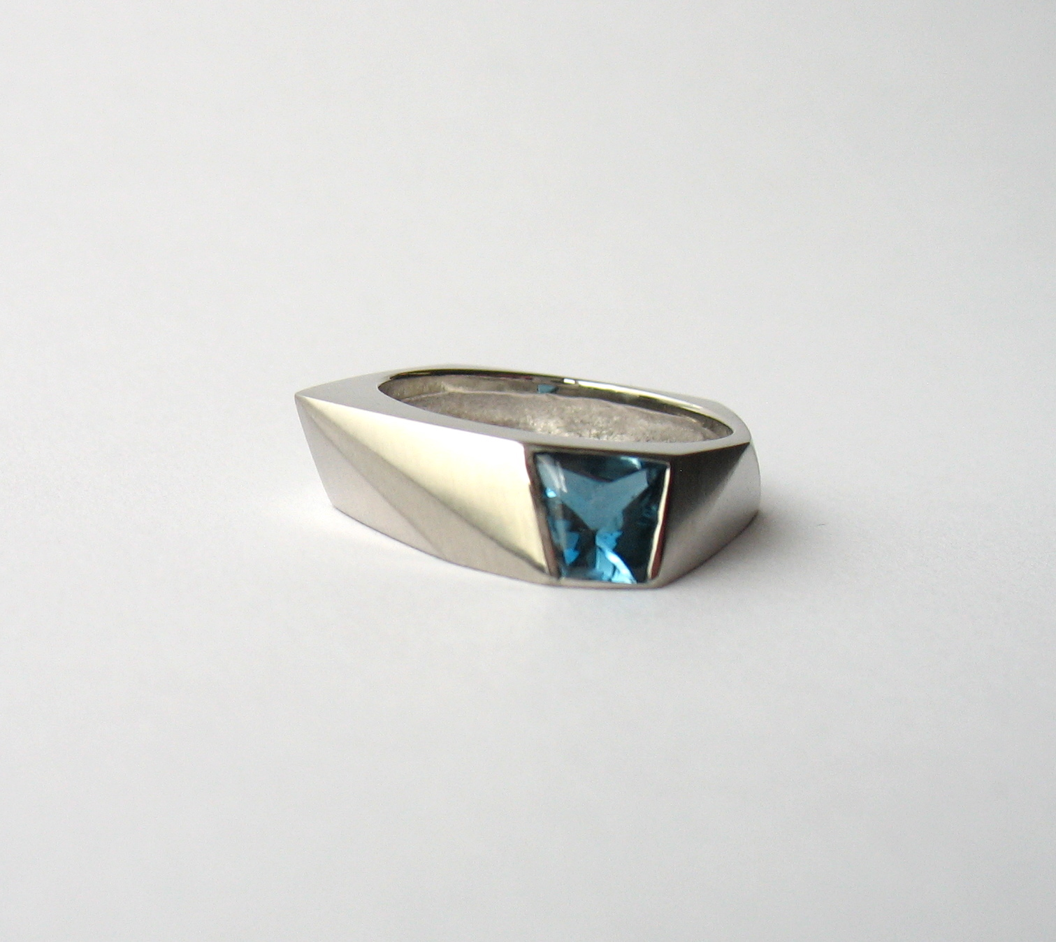 Blue Topaz and Palladium Ring. Image: Courtesy of Melanie Eddy