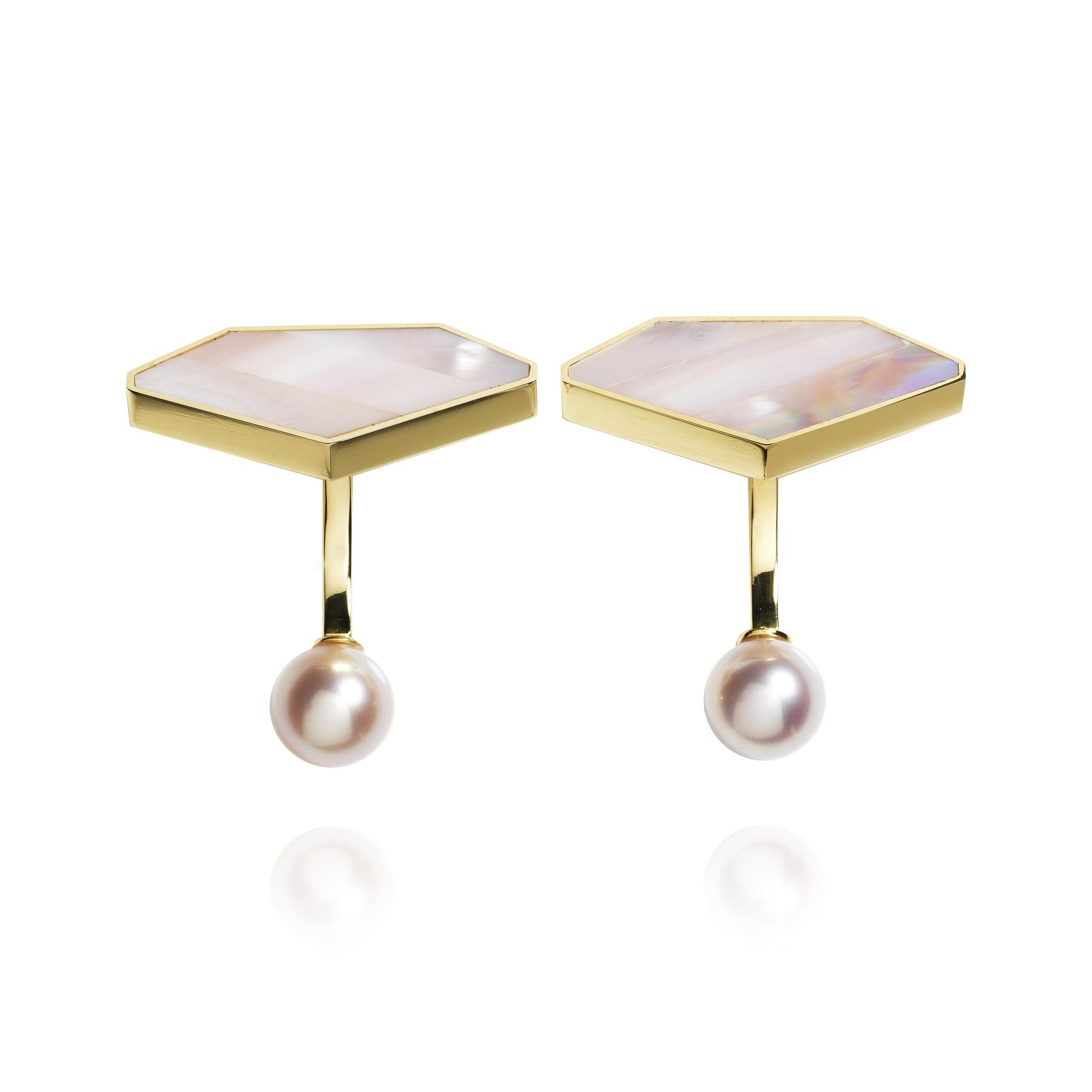 Gemstones MOP Emerald Cufflinks (Image Courtesy of Melanie Georgacopoulos)
