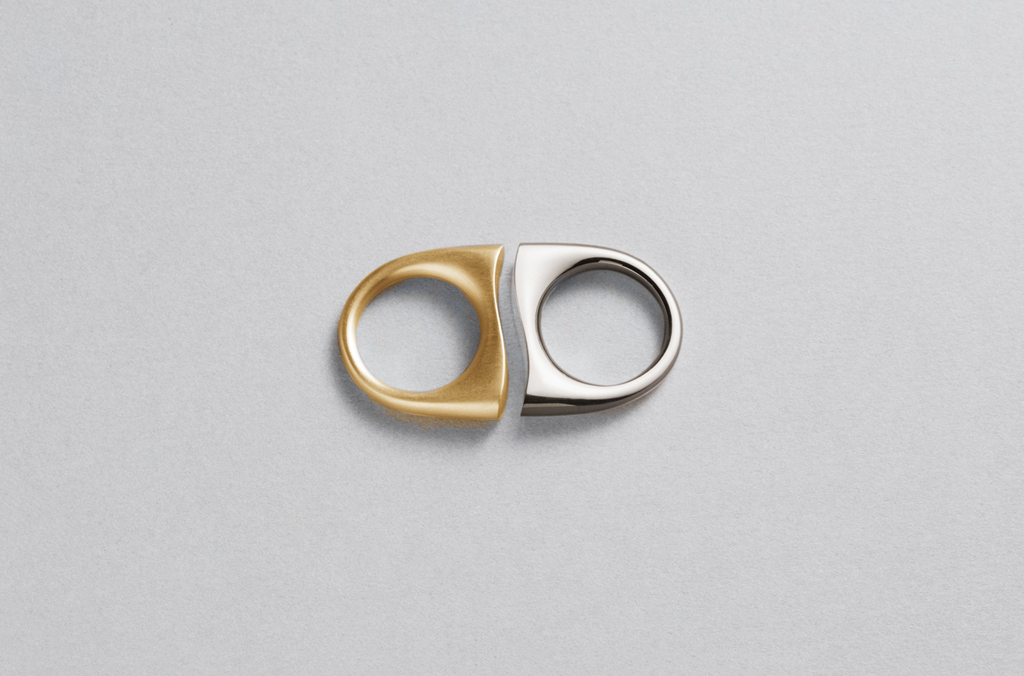 Love Distance Rings in Yellow and White Gold. Image: Courtesy of J Rabun