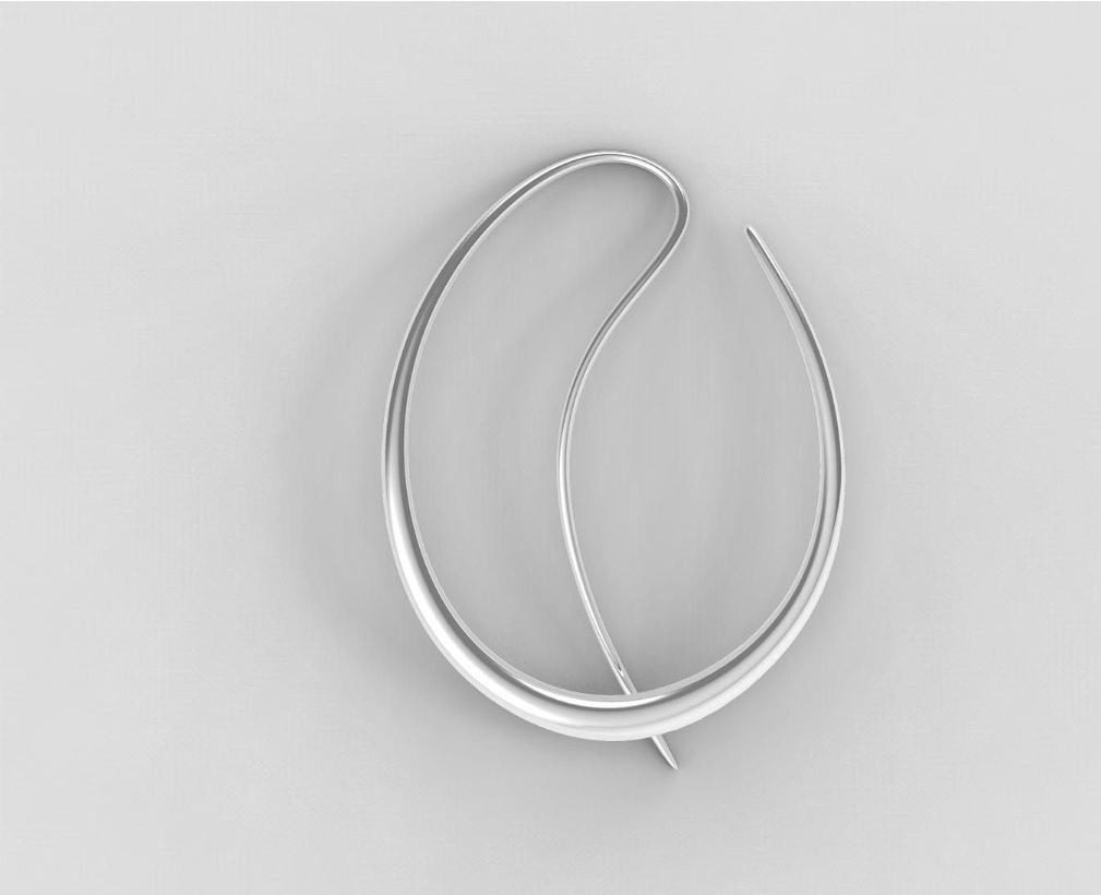 Offspring Earring in Sterling Silver. Jacqueline Rabun for Georg Jensen. Image Courtesy of J Rabun