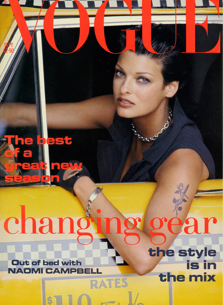 September 1992  British Vogue Cover. Image by Peter Lindbergh