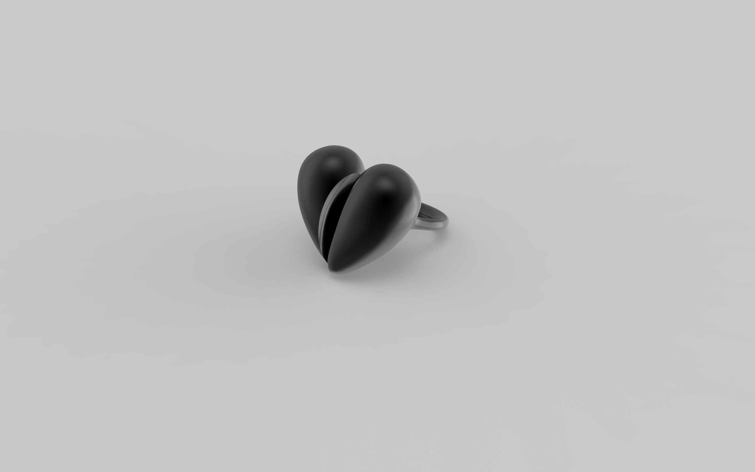 Black Love Ring in Oxidised Silver. Image, Courtesy of J Rabun