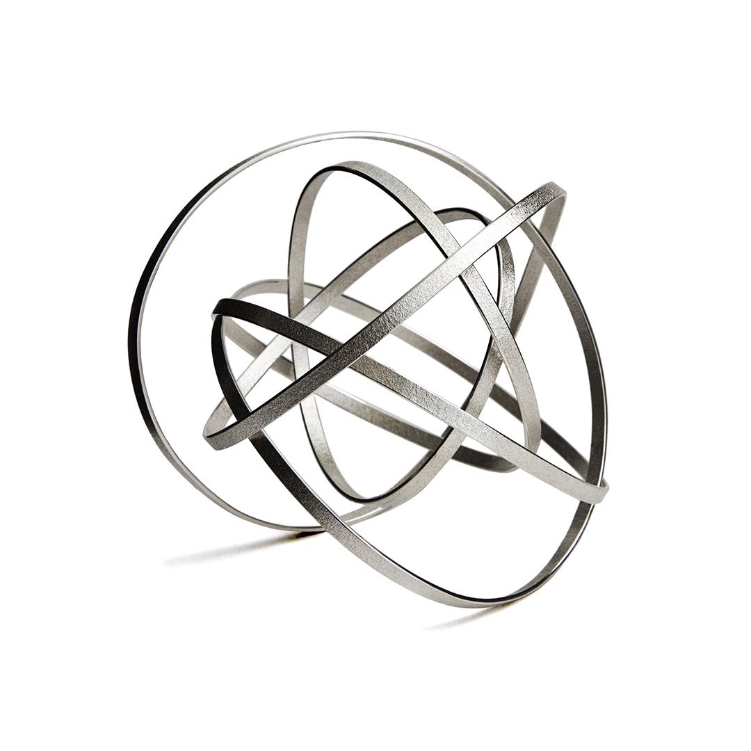 Orbit Bracelet in recycled silver. Image Courtesy of U Decker