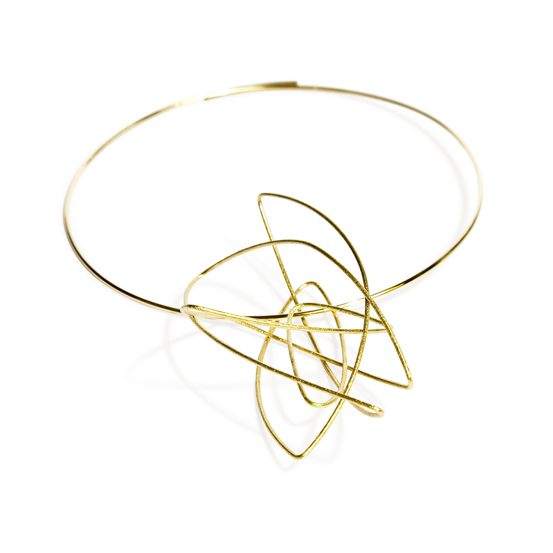 Chaos Neck Piece in Fairtrade Gold. Image Courtesy of U Decker