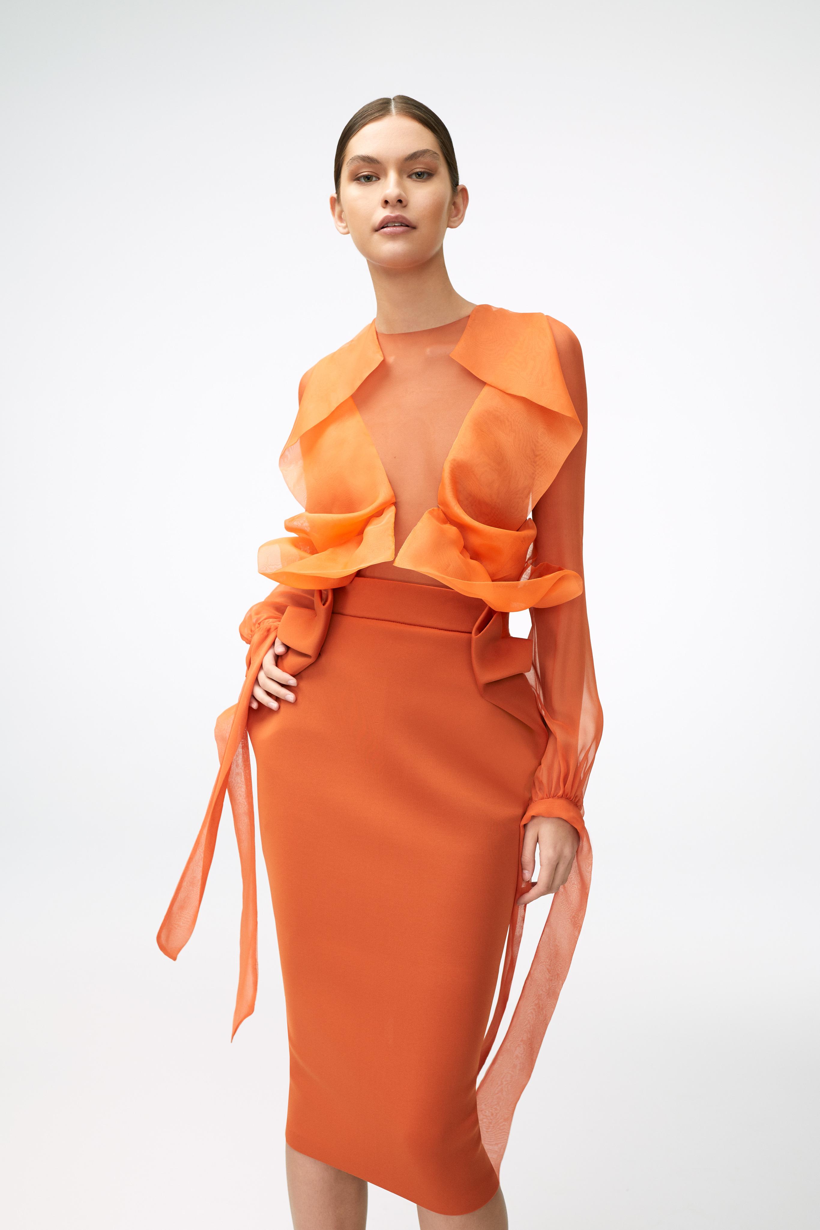 Butterfly Blouse and Delta Skirt SS2021 Image: Amanda Pratt Styling: Dimeji Alara