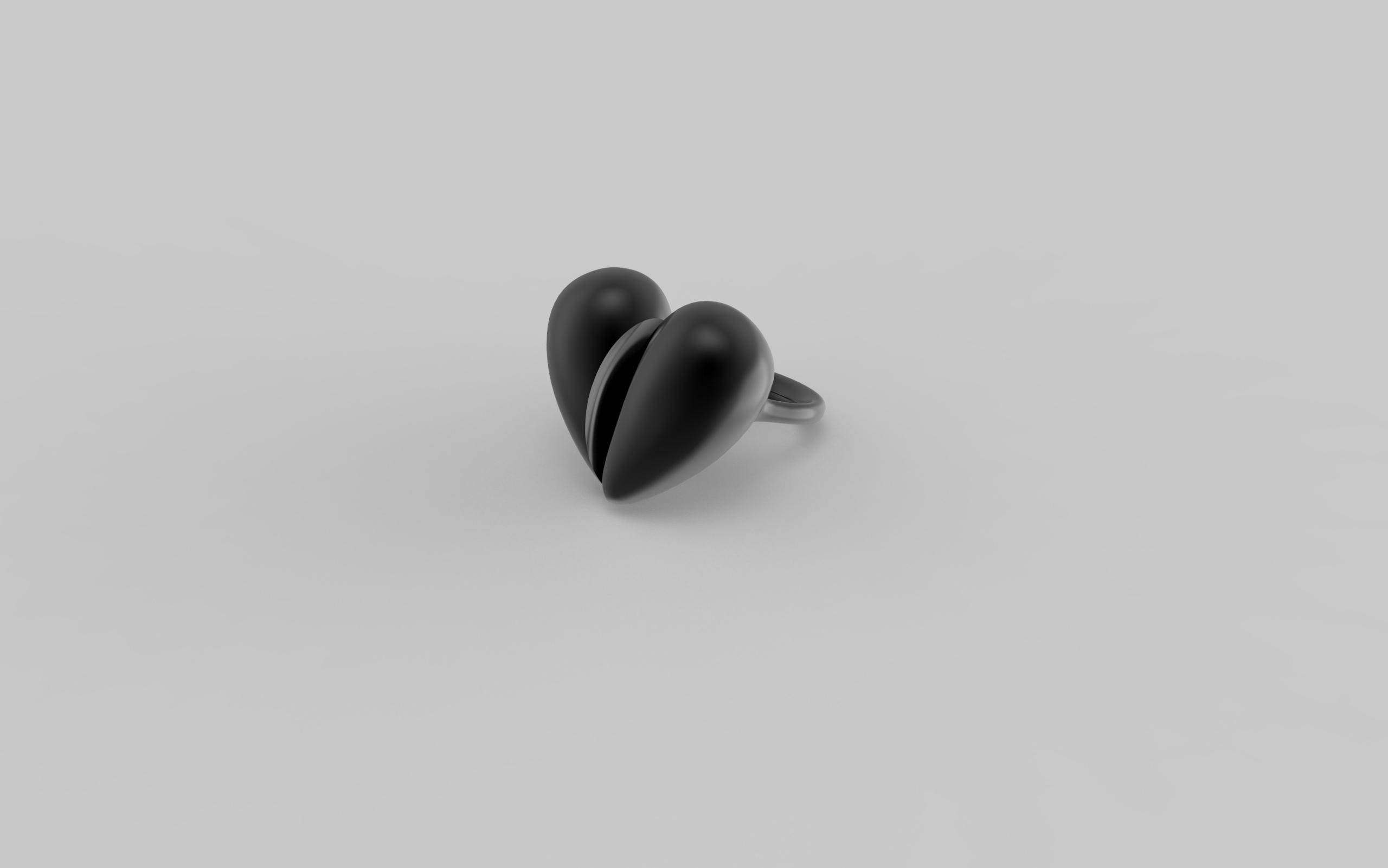 Black Love Ring in Oxidised Silver. Image, Courtesy of J Rabun