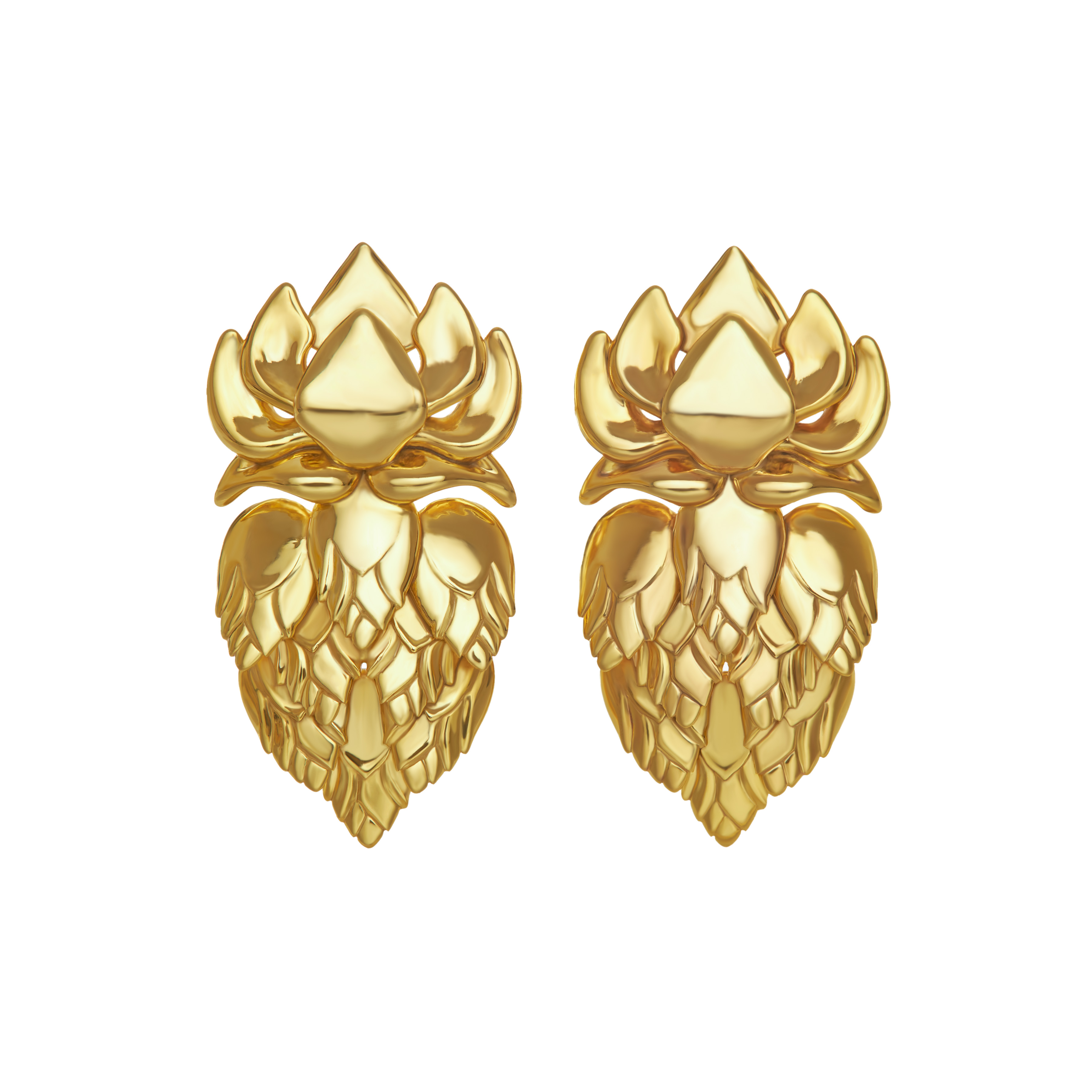 Phkachhouck 1.0 Earrings in 18kt Yellow Gold, Image Courtesy of EdoEyen
