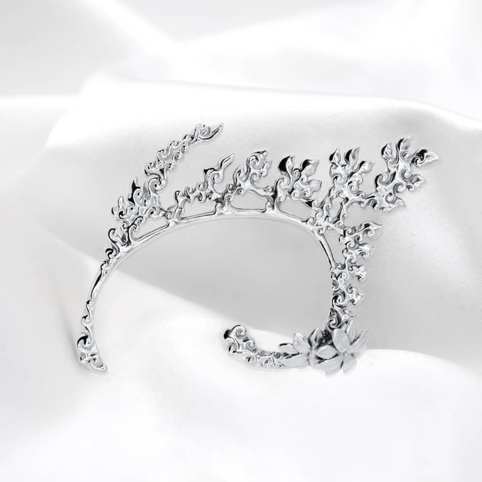 Neang Neak Cuff in 925 Sterling Silver, Image Courtesy of EdoEyen