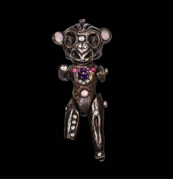 Space Monkey, Opals, Amethysts and Black and White Diamonds. Image Courtesy of Castro NYC