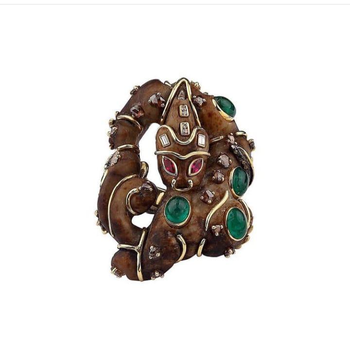 Benin cat Ring